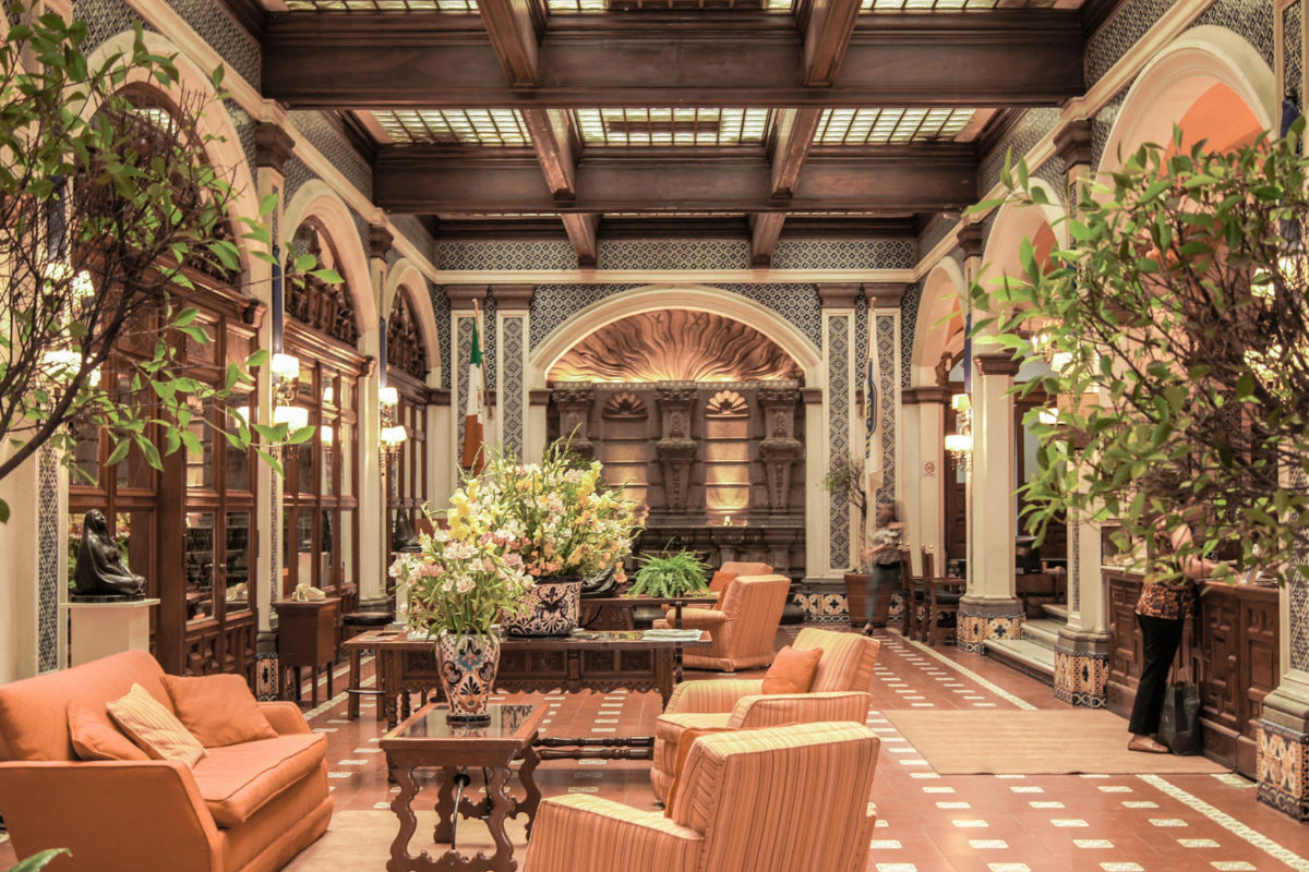 Inside of a hotel